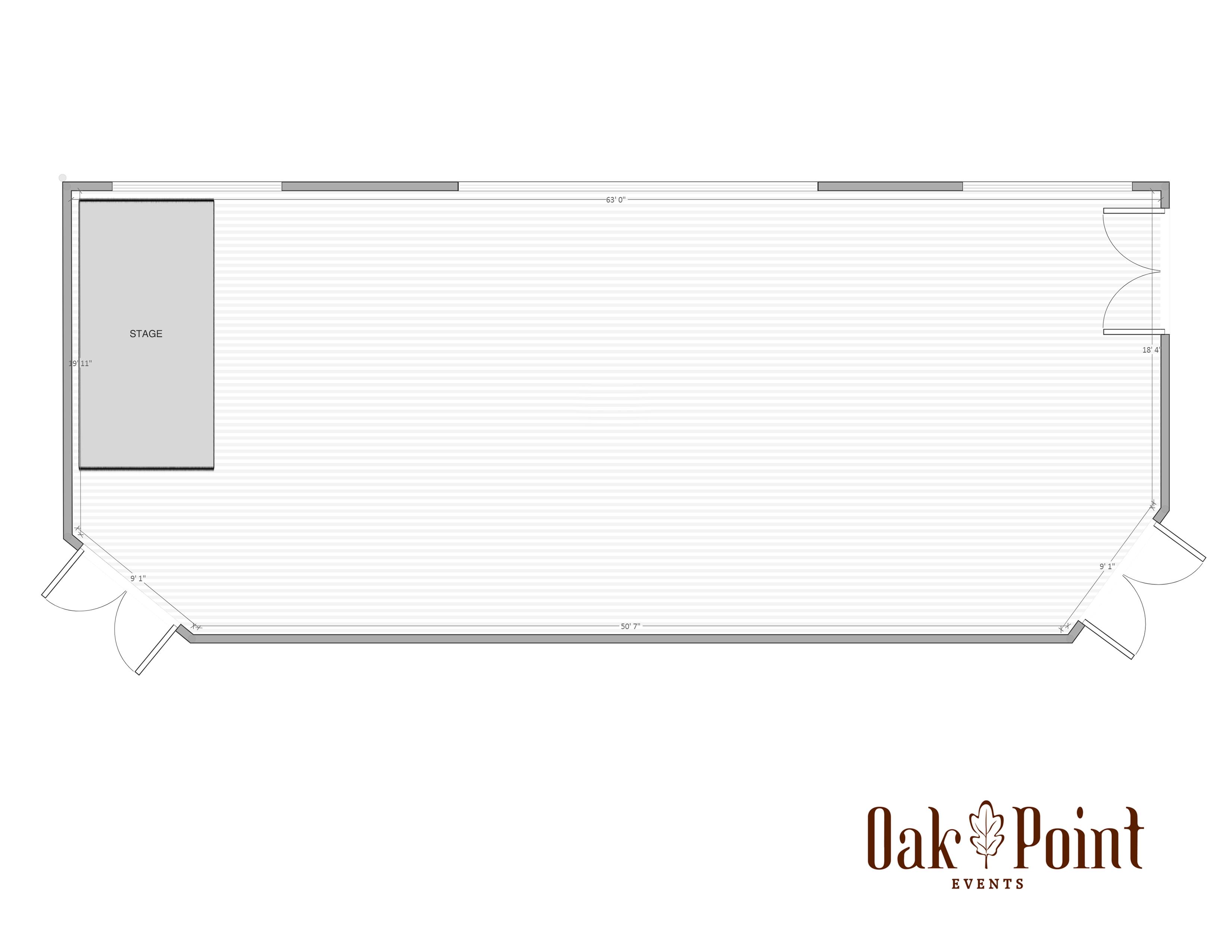 Oak Point Events Floorplan